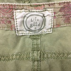 Life Is Good Shorts - Life Is Good Green Shorts size 4